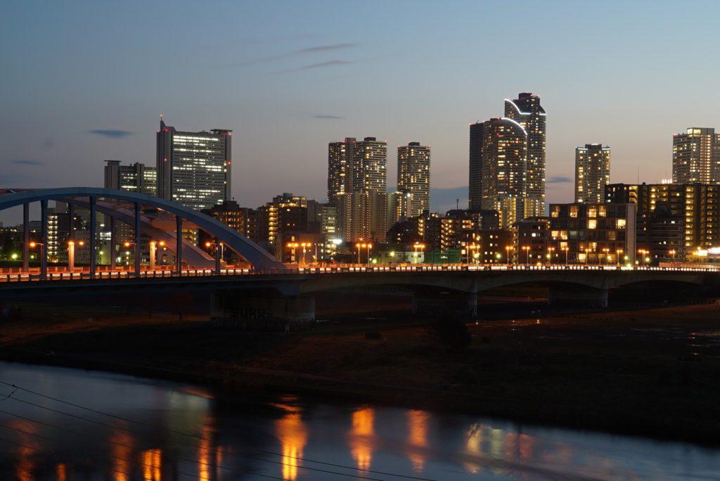 武蔵小杉 夜間