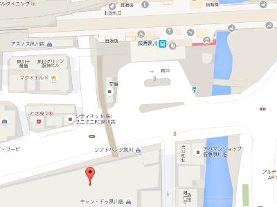 夙川ニシノ歯科地図