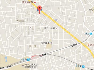 大岡山歯科医院 地図