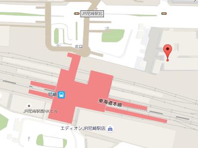 JR尼崎駅前やすだ歯科 地図