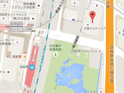 東京浜松町歯科クリニック 地図