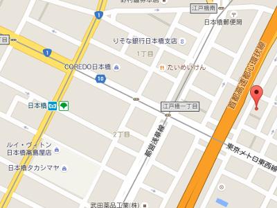 白十字歯科クリニック  日本橋兜町 地図