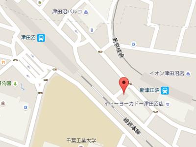 新津田沼歯科クリニック 地図
