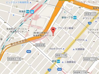 銀座クリスタルデンタルオフィス 地図