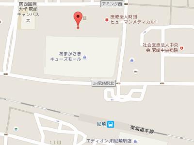 尼崎ガーデン歯科 地図