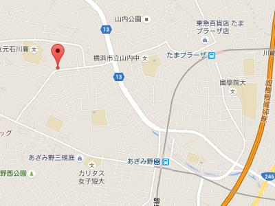 あざみ野フォレスト歯科 地図
