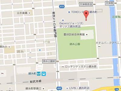 槙原歯科 オリナス錦糸町インプラントセンター 地図