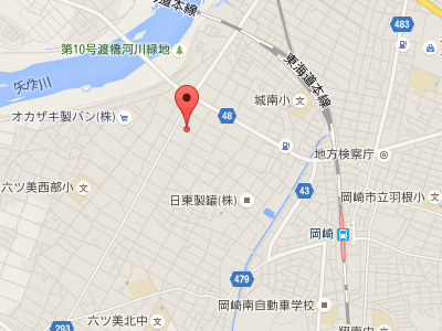 岡崎エルエル歯科・矯正歯科 地図