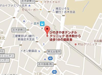 ひのきやまデンタルクリニックmap