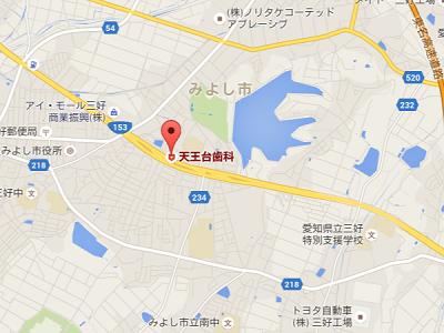 天王台歯科 地図