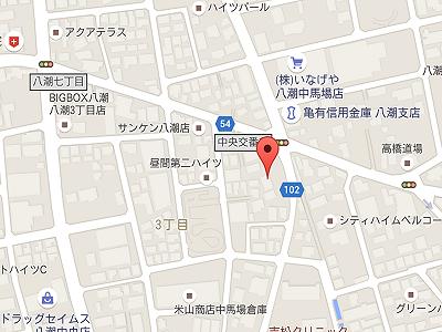 ふじさき歯科 インプラントセンター八潮map