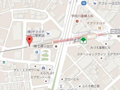 一之江駅前イルニード歯科 地図