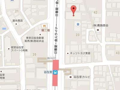 谷在家歯科医院 地図