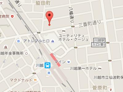 川越モディデンタルmap