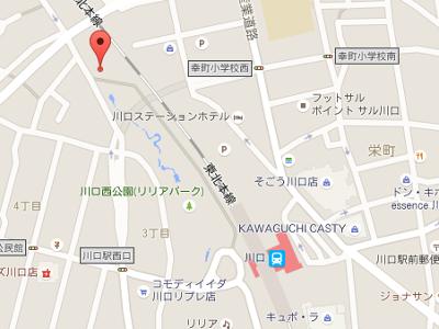 うけがわ歯科(川口) 地図