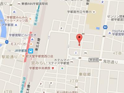 駅東ふくだ歯科map
