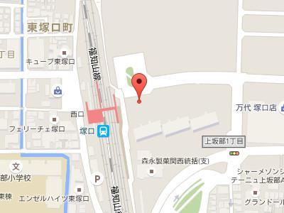 塚口駅前デンタルクリニックmap