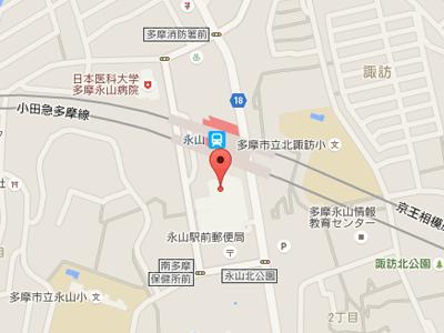 永山センター歯科map