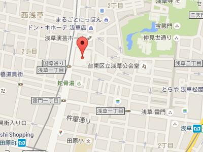 浅草KT歯科map