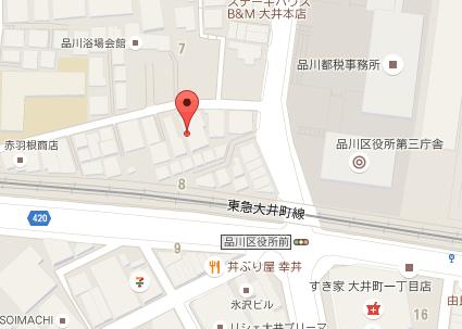 ホワイトラビット歯科医院 地図