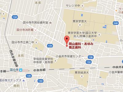 岡山歯科・あゆみ矯正歯科 地図