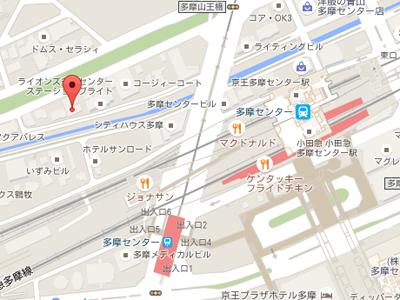 落合小児科歯科map