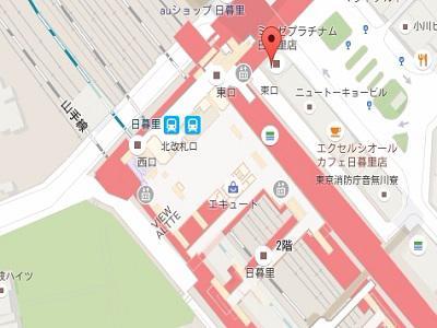 日暮里駅前デンタルクリニックmap