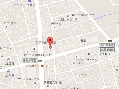 すずき歯科医院map