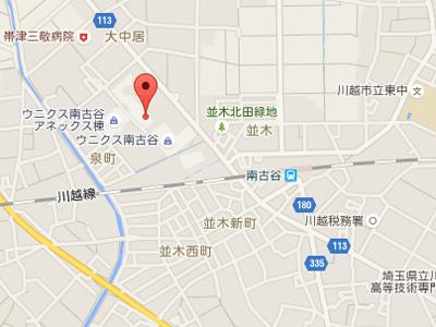 ウニクス南古谷map