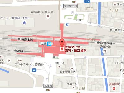 大垣アピオ歯科・矯正歯科 地図
