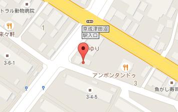 袖ヶ浦デンタルクリニック 地図