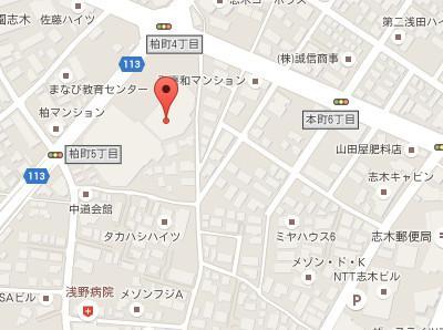 志木あん歯科クリニックmap