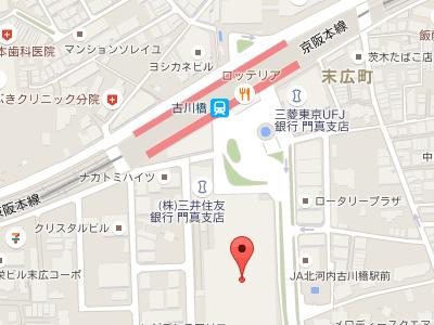 古川橋駅前歯科 地図