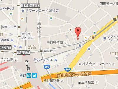 渋谷矯正歯科地図