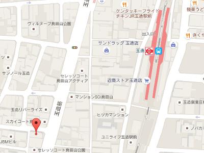 真田山歯科 地図
