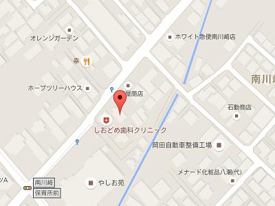 しおどめ歯科クリニックmap