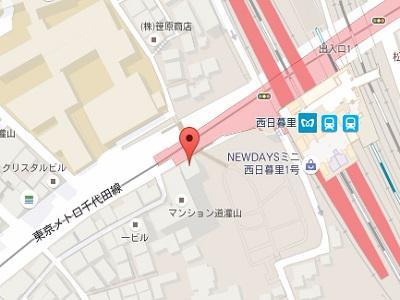 西日暮里駅前デンタルクリニックmap