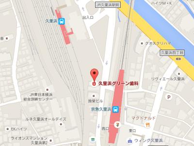 久里浜グリーン歯科 地図