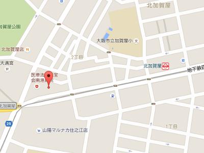 北加賀屋歯科医院 地図