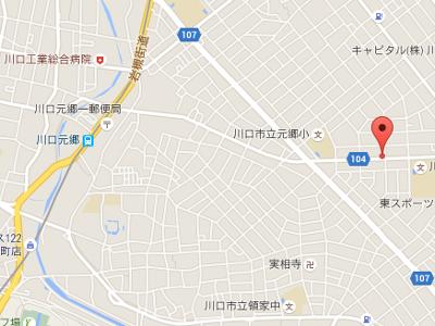 うけがわ歯科元郷 地図