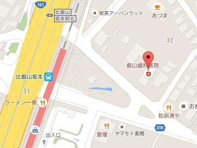 叡山歯科 地図