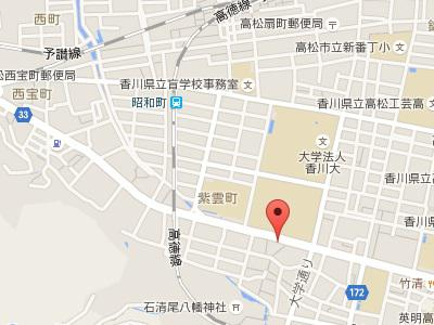 デンタルステーション宮脇町歯科医院地図