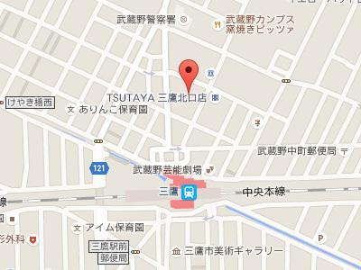 三鷹リボン歯科・矯正歯科地図