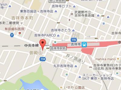 黒田クリスタル歯科 吉祥寺地図